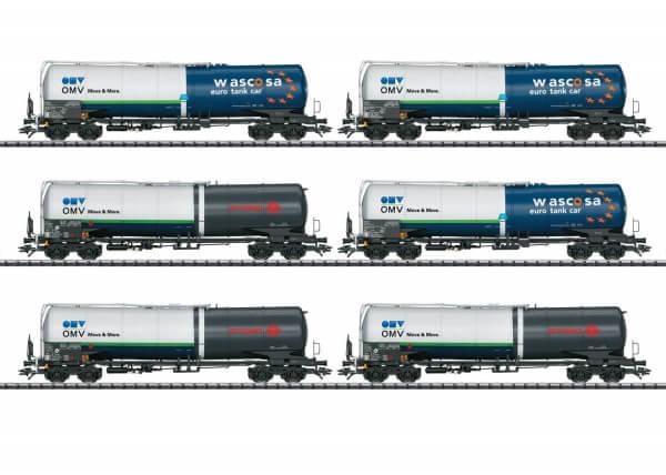 TRIX 24206 Güterwagenset mit 6 Kesselwagen der Bauart Zans und Zacns