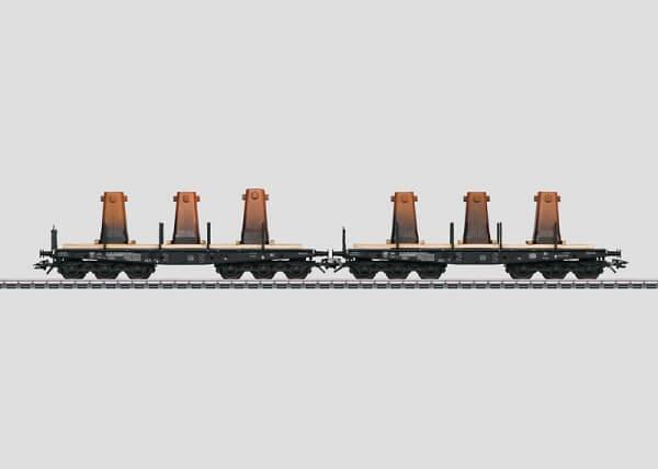 Märklin 48685 2 Schwerlast-Flachwagen zum Transport von Gusskokillen
