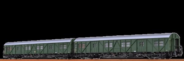 BRAWA 46252 GEPÄCKWAGEN MPW4I UND MPW4YGE DER DB 2ER-SET