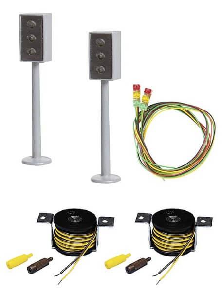 Faller 162056 2 LED-Ampeln mit Stopp-Stellen
