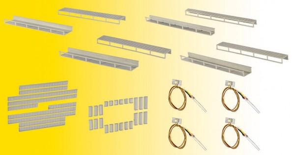 Viessmann 6045 Startset Etageninnenbeleuchtung, 8 Schienen, 4 verschiedene Größen, 4 LEDs weiß