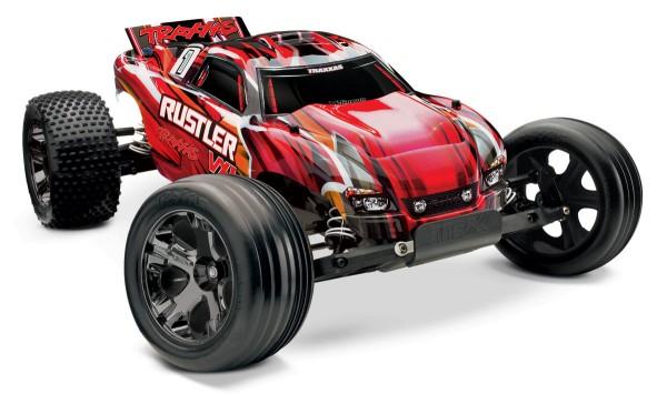 TRAXXAS® 37076-3 Rustler VXL mit TSM® rot