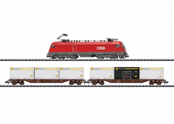 """Minitrix 11133 Startpackung """"Moderner Güterverkehr"""" Reihe 1116 der ÖBB"""