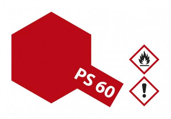 TAMIYA 300086060 PS-60 Hell Mica Rot (Glimmer) Polycarbonat 100ml