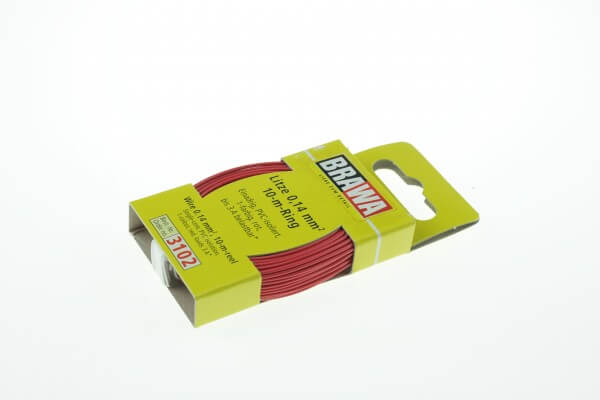BRAWA 3102 Litze 0,14 mm², 10-m, rot