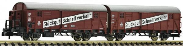 Fleischmann 830603 Leig-Wageneinheit, bestehend aus zwei Güterwagen der Bauart Gllh 12