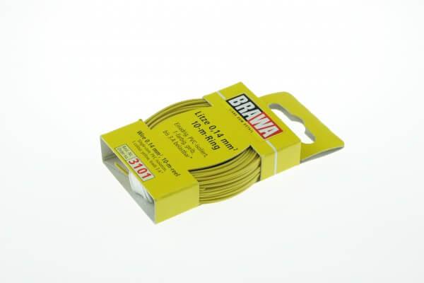 BRAWA 3101 Litze 0,14 mm², 10-m, gelb