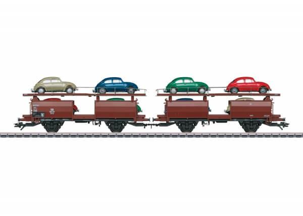 Märklin 46128 Autotransportwagen-Paar Off 52