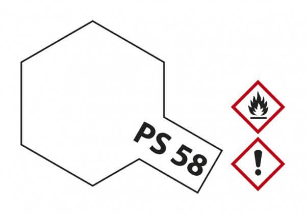 TAMIYA 300086058 PS-58 Perleffekt Klarlack Polycarbonat 100ml