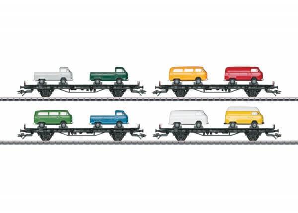 """Märklin 45082 Autotransportwagen-Set """"VW-Bus Transport T2"""""""