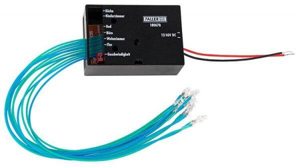 Faller 180678 LED-Gebäudebeleuchtung mit belebender Steuerung