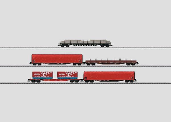 Märklin 47031 Güterwagen-Set Rs, Res, Rils, Sgns