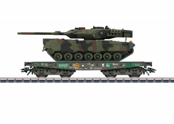 Märklin 48748 Schwerlast-Flachwagen Rlmmps mit Kampfpanzer Leopard 2A6