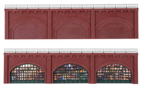 Faller 270583 Spur N Arkaden Set mit verglasten Fassaden für Gewerbetreibende
