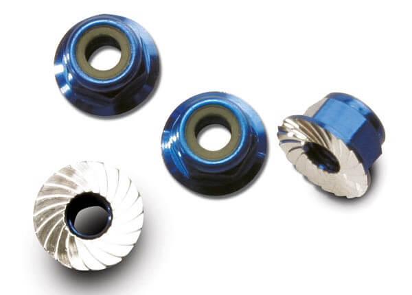 TRAXXAS® 1747R 4 mm Stop-Muttern metrisch Alu blau eloxiert
