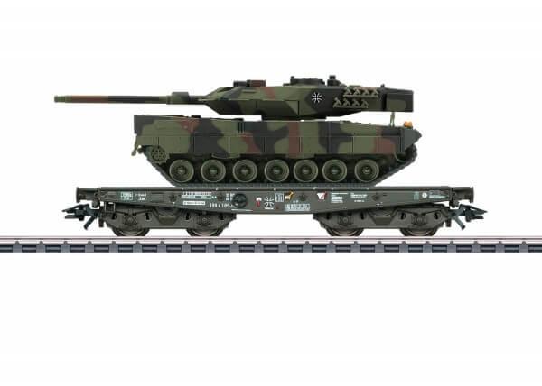 Märklin 48793 Schwerlast-Flachwagen Rlmmps mit Kampfpanzer Leopard 2A6