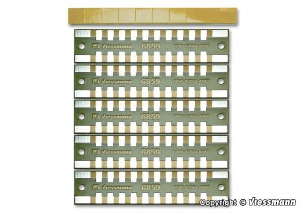 Viessmann 6859 Löt-Verteilerleisten 2-polig (5 Stück)