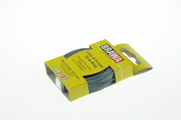 BRAWA 3107 Litze 0,14 mm², 10-m, grau