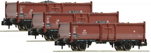 FLEISCHMANN 820530 3-teiliges Kohlewagen Set Bauart Omm52 der DB