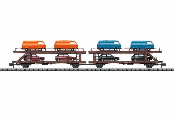 Minitrix 15442 Autotransportwagen Doppeleinheit Laekks 553