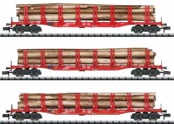 Minitrix 15930 Set mit 3 Rungenwagen Snps