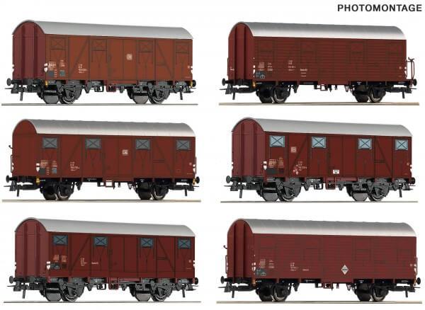 Roco 75952 Display gedeckte Güterwagen der DB mit 12 Waggons
