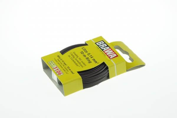 BRAWA 3106 Litze 0,14 mm², 10-m, dunkelbraun