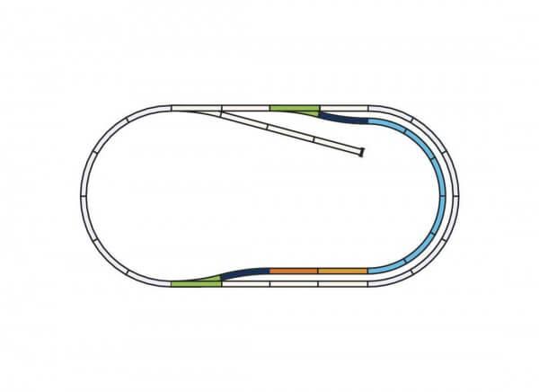 """PIKO 55320 A-Gleis Set: C """"Bahnhofs-Set"""""""