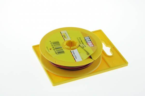 BRAWA 3169 Flachbandlitze, 0,14 mm², 5 m rot/schwarz