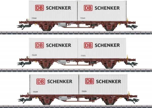 Märklin 47725 Container-Tragwagen-Set Lgs