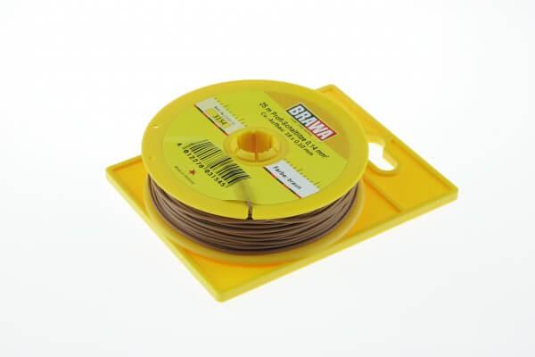 BRAWA 3154 Schaltlitze, 0,14 mm², 25-m braun