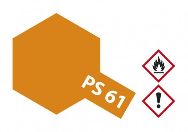 TAMIYA 300086061 PS-61 Metallic Orange Polycarbonat 100ml