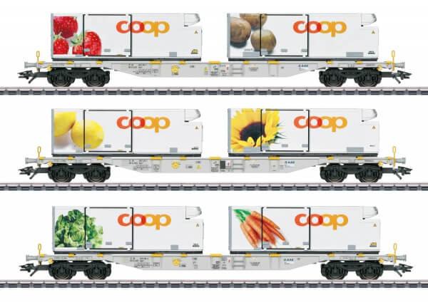 Märklin 47461 H0 Containertragwagen-Set Coop