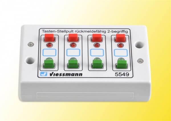 Viessmann 5549 Universal-Tasten-Stellpult, rückmeldefähig, 2-begriffig