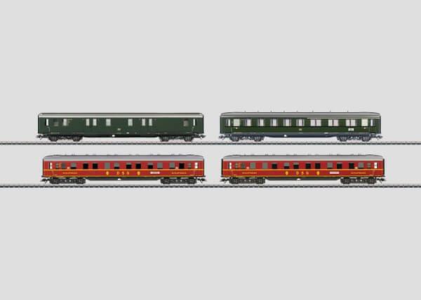 Märklin 43204 Schnellzugwagen-Set Schürzenwagen mit Innenbeleuchtung