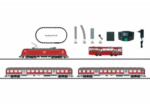 """Minitrix 11140 Digital-Startpackung """"Regionalexpress"""" Baureihe 146.2 DB AG"""
