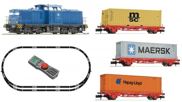 FLEISCHMANN 931882 Digitales Startset: BR 204 mit Containerzug der Pressnitztalbahn