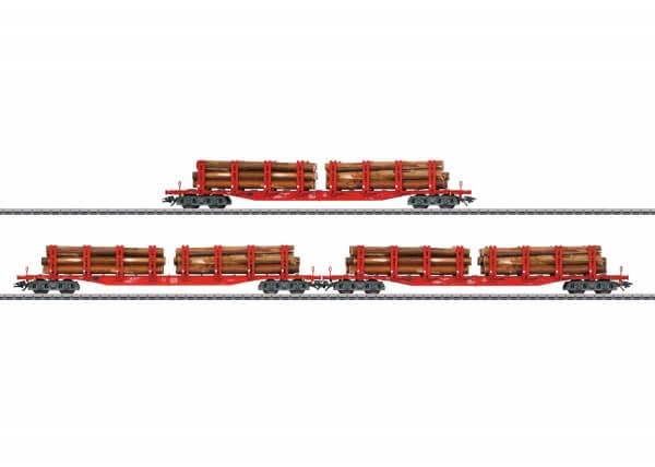 Märklin 47144 Set mit 3 Rungenwagen Snps 719