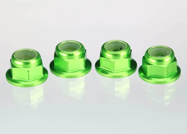 TRAXXAS® 1747G 4 mm Stop-Muttern metrisch Alu grün eloxiert