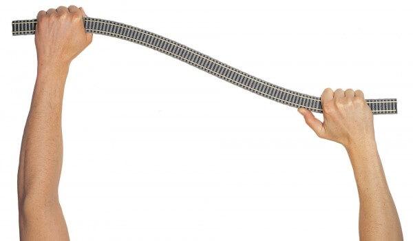 FLEISCHMANN 6106 Flexgleis mit Holzschwellen 800 mm