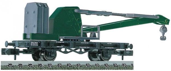 """FLEISCHMANN 850301 Kranwagen, ähnlich der Bauart """"WYHLEN"""" der DB"""