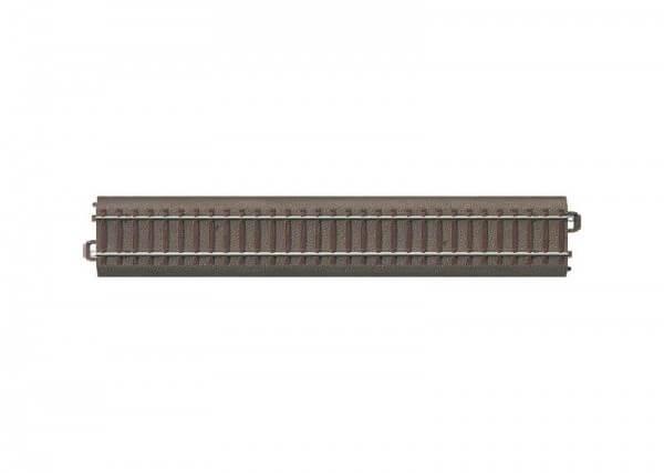Länge 229,3 mm. Ergänzt die Länge des Gleis-Gegenbogens an schlanken Weichen.