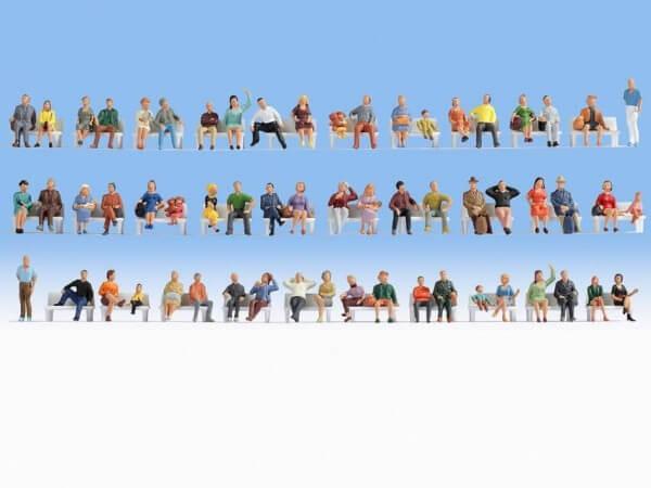 Noch 38402 Mega-Spar-Set Sitzende mit 60 Figuren