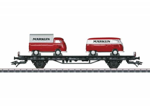 """Märklin 45083 Autotransportwagen mit 2 VW-Bus Transporter T1 """"Märklin"""""""