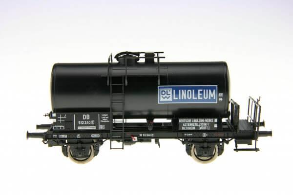 """BRAWA 48896 2-achsiger Kesselwagen """"Linoleum"""" der DB"""