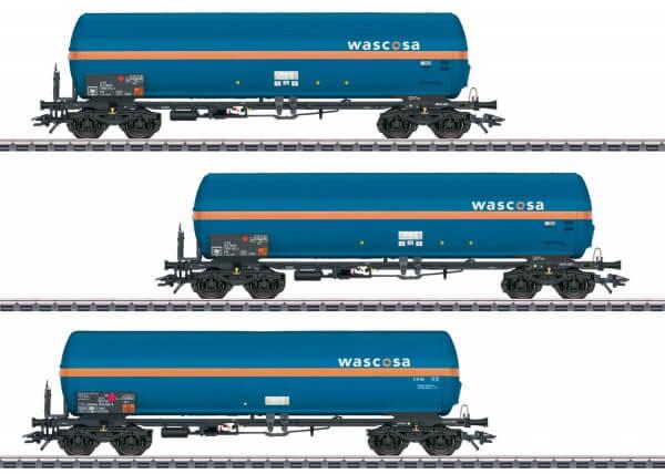 Märklin 48488 Drei vierachsige Druckgaskesselwagen Wascosa