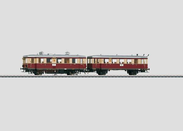 Märklin 37707 BR VT 135 & BR 140 Dieseltriebwagen mit Beiwagen