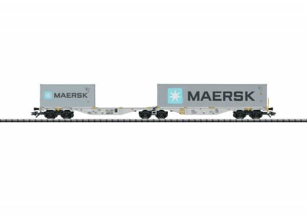 TRIX 24801 Doppel-Containertragwagen Bauart Sggrss 80 MAERSK