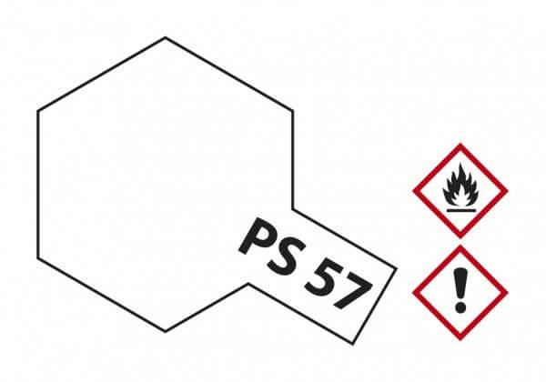 TAMIYA 300086057 PS-57 Perleffekt Weiss Polycarbonat 100ml