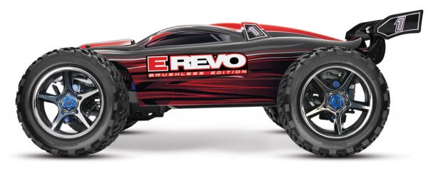 TRAXXAS® 56086-4 The Fastest Name in Radio Control E-Revo Brushless Edition rot
